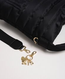 Padded hobo bag with shoulder strap Black Woman 192TO8063-03