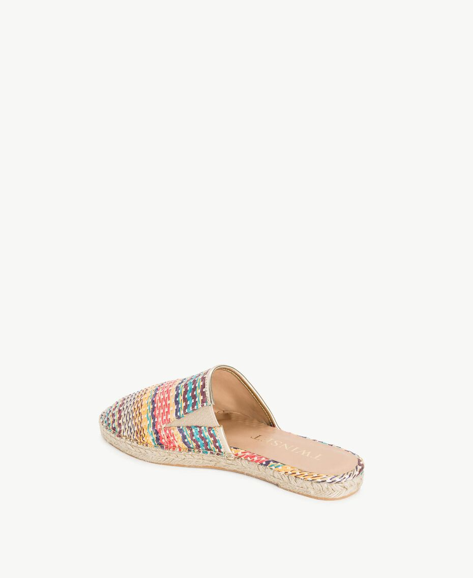 Striped slippers Multicolour Stripes Woman MS8Z55-03