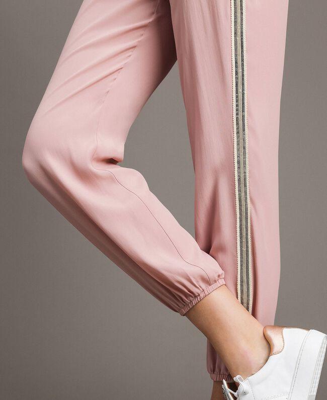 """Jogginghose mit Pailletten """"Pink Bouquet"""" Pink Frau 191LB2LDD-05"""