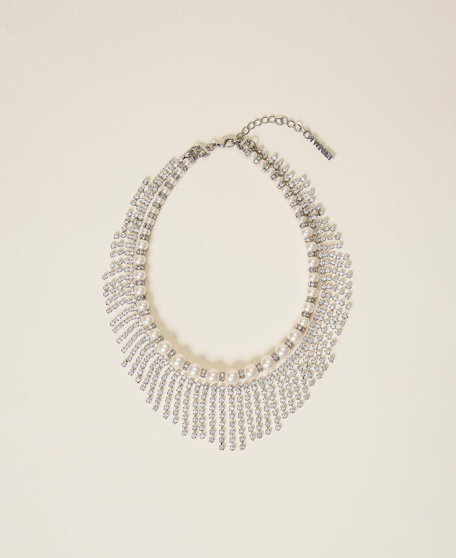 Choker with pearls and rhinestones Crystal Woman 202TA4313-01