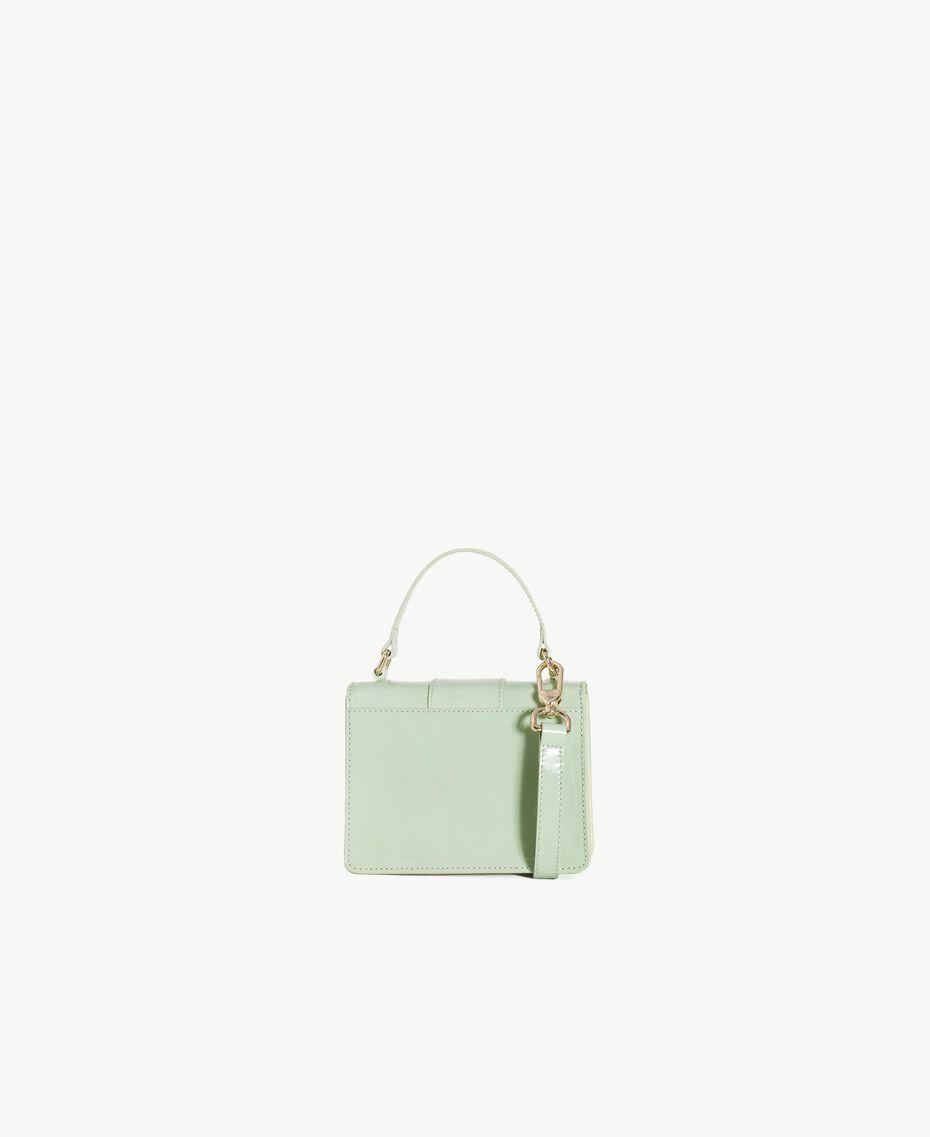 TWINSET Patent leather shoulder bag Fern Green Female OA7TJB-03