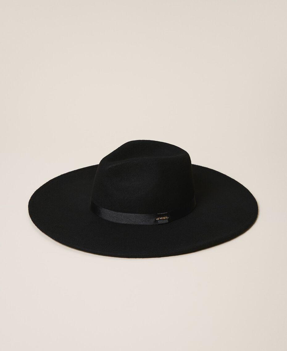 Широкополая шляпа с лентой Черный женщина 202TA4453-01