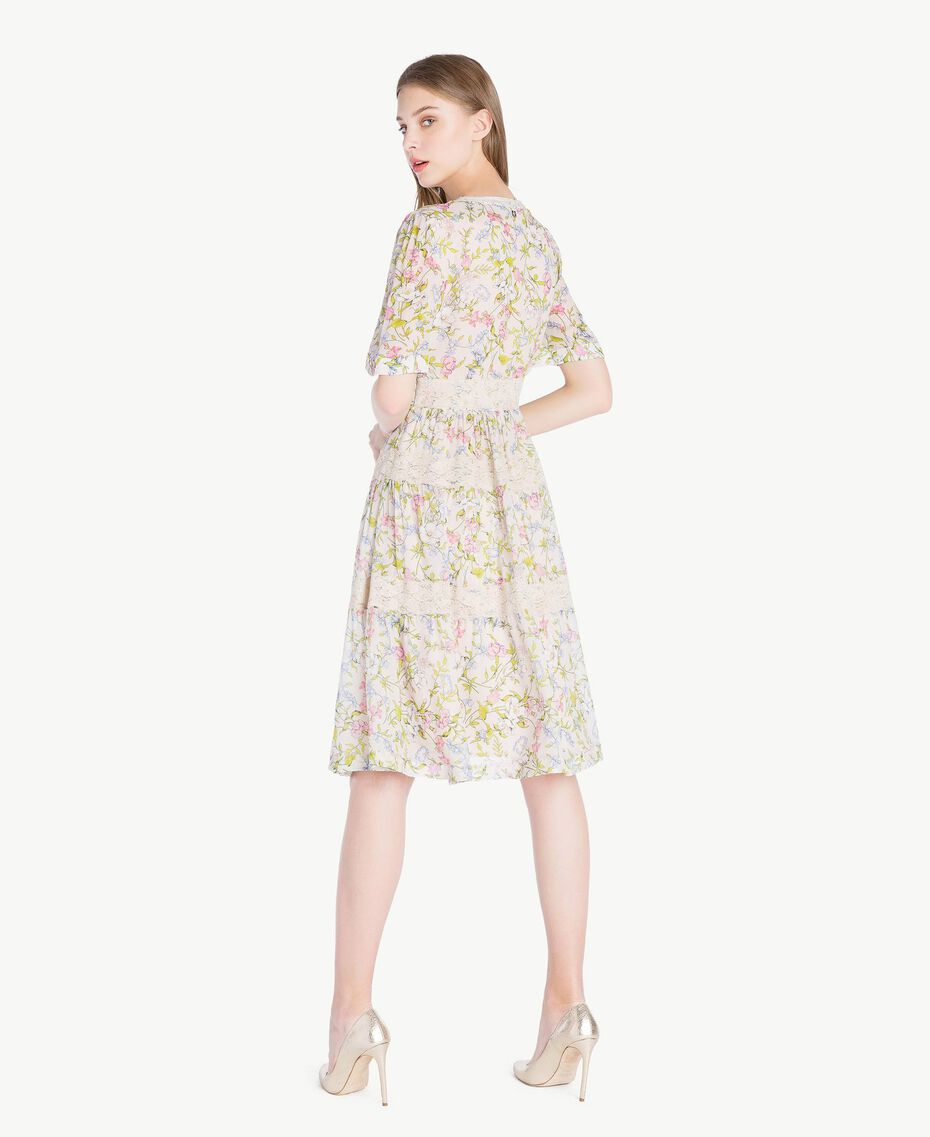 Kleid mit Print Frühlingsprint Frau PS82PB-03