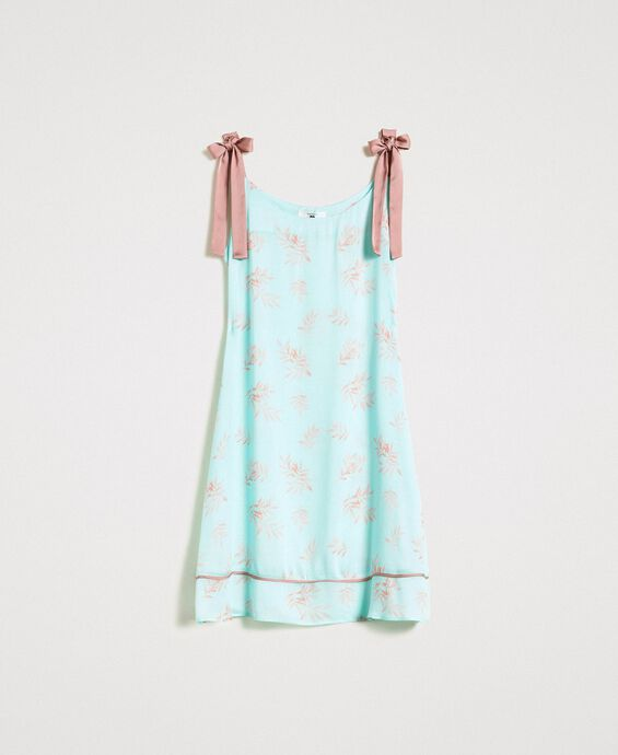 Floral jacquard nightgown