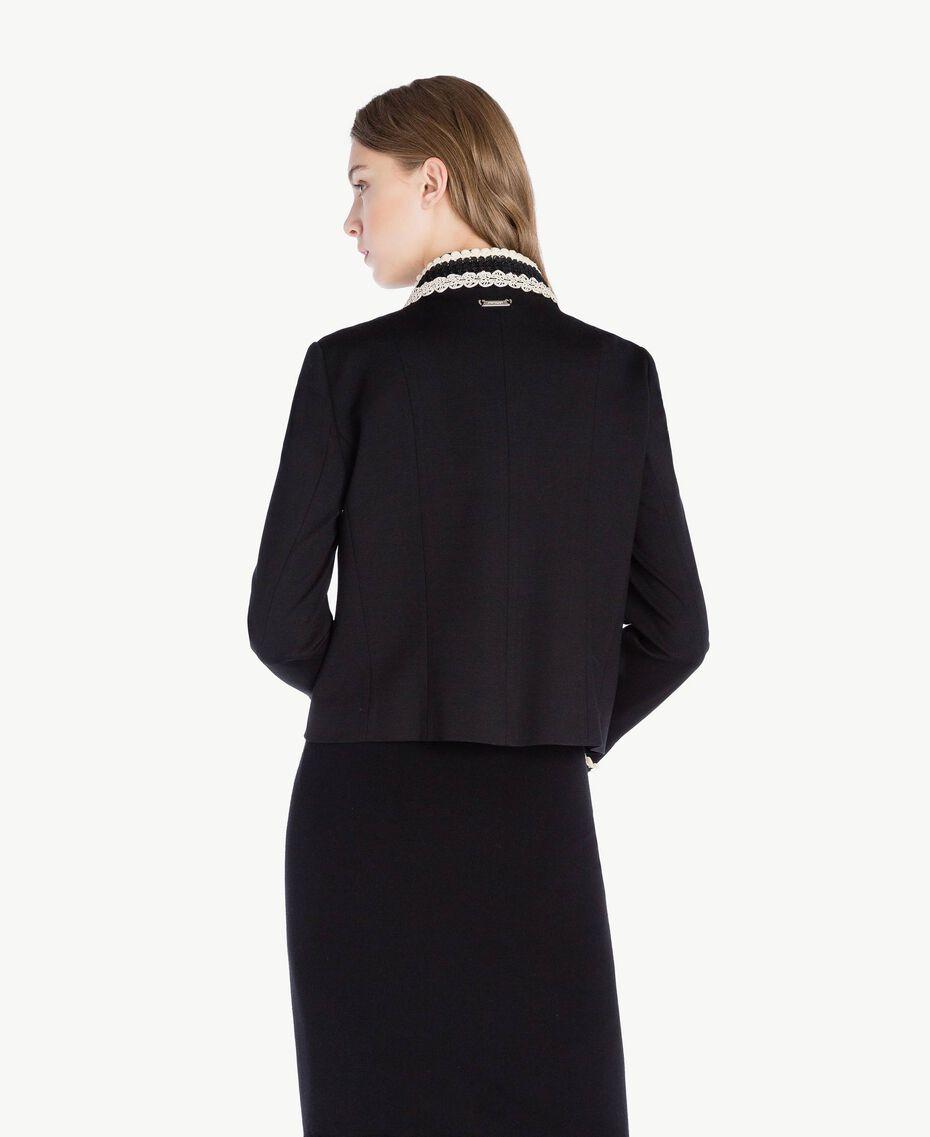 Veste dentelle Noir Femme PS828E-03