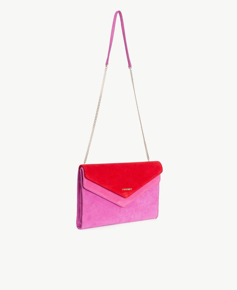TWINSET Umhängetasche mit zwei Patten Multicolor Provocateur Pink / Fuchsia / Rubin Frau OS8TDP-02