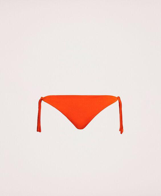 Brazilian bikini bottom with tie-up laces
