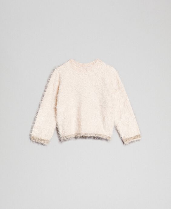 Fur effect yarn jumper