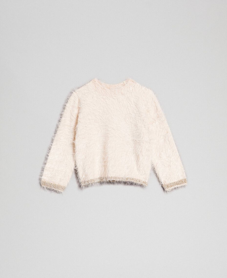 Fur effect yarn jumper Oat Child 192GB3060-01
