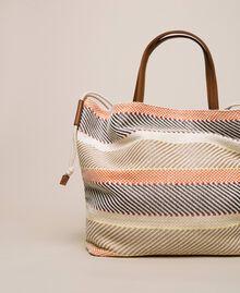 """Weaved fabric shopper Multicolour """"Milkyway"""" Beige Woman 201LM7ZJJ-04"""