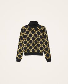 Turtleneck with chain print Ivory / Gold Large Chain Print Woman 202TT3340-0S