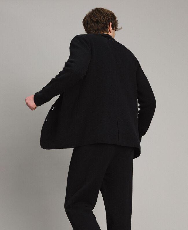 Cotton-blend knit jacket Black Man 191UT3090-03