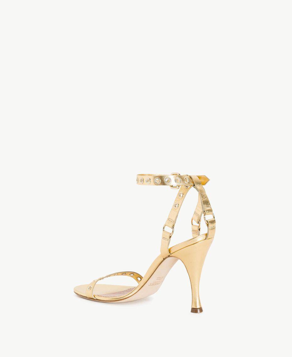 TWINSET Laminated sandals Platinum Woman CS8TAE-03