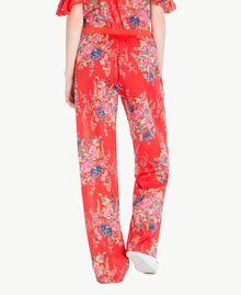 Pantalon imprimé Imprimé Fleurs Bouquet Rouge Femme YS82PE-03