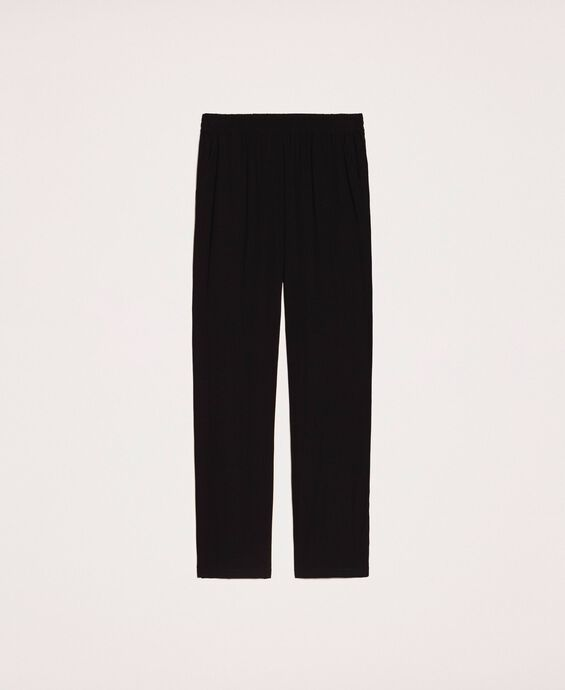 Crêpe cigarette trousers