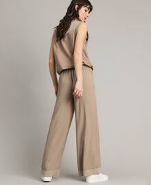 "Viscose palazzo trousers ""Grey Dust"" Woman 191LL35SS-03"