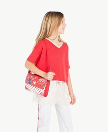 Printed backpack Flowers Print / Pomegranate Red Polka Dot Print Child GS87BK-06