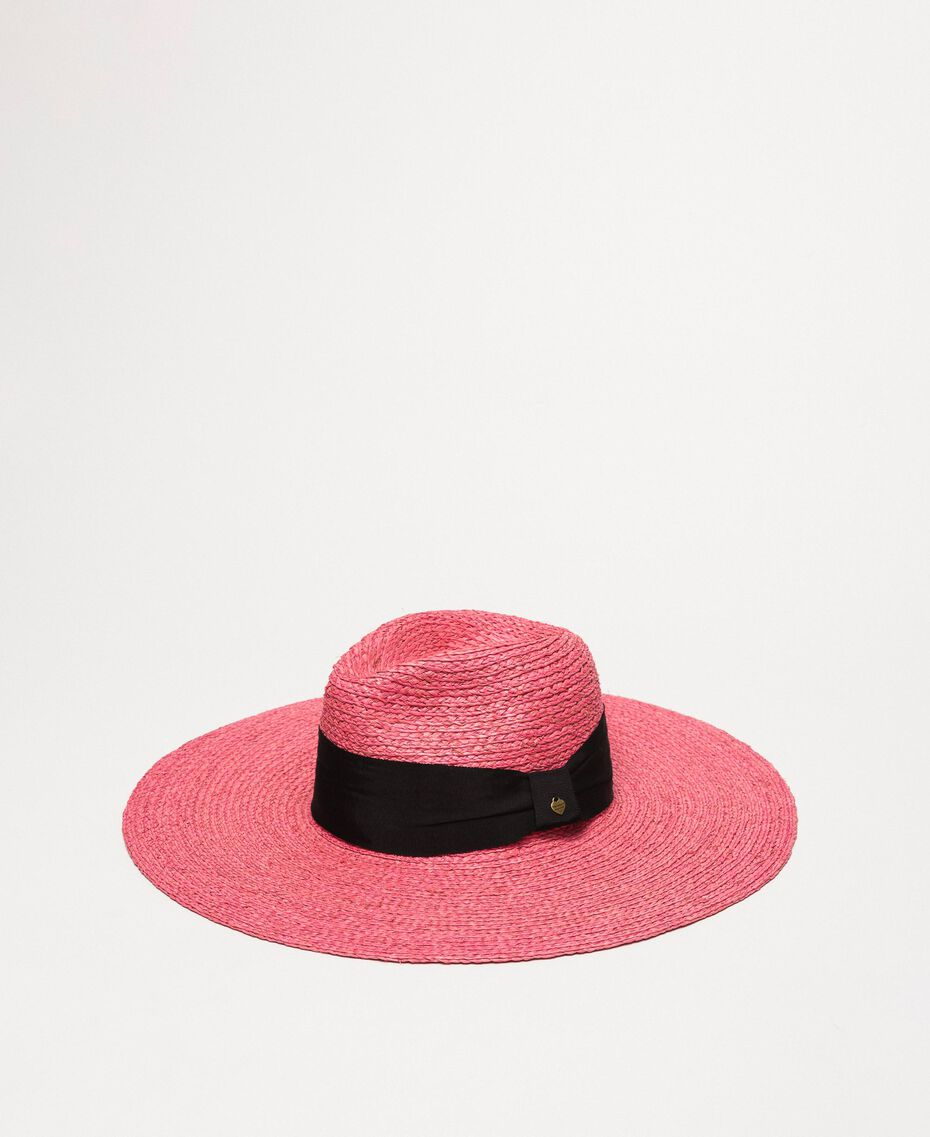 Wide brim straw hat Glam Rose Woman 201TO5400-01