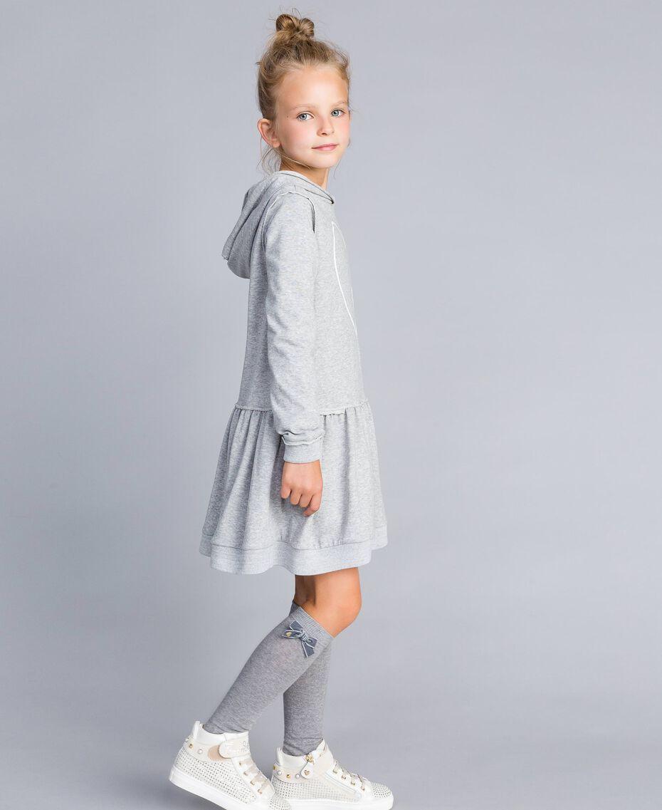 Платье из футера с принтом Серый Mélange Светлый Pебенок GA8261-02