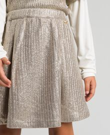 Laminated knit skirt Pale Gold Yellow Child 192GJ2360-04