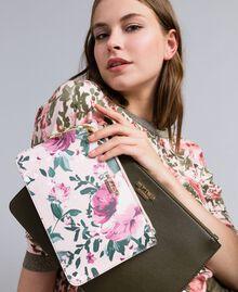Deux pochettes en similicuir Bicolore Vert / Rose Femme VA8PGP-0S