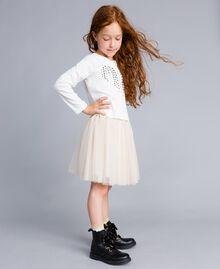 T-shirt en coton avec cœur Off White Enfant GA82FV-03