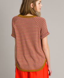 Lurex striped jumper Pink Lurex Multicolour Striping Woman 191TT3120-03