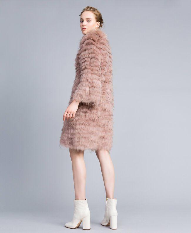 Long fur coat Light Pink Woman PA82LE-03