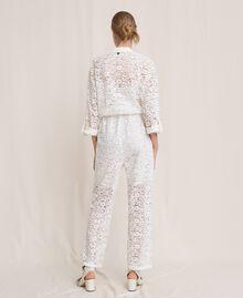 Macramé lace jumpsuit Black Woman 201TP2195-03