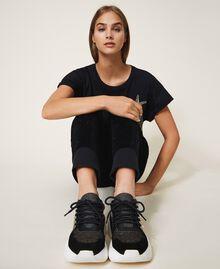 Chaussures de running avec logo Noir Femme 202TCP036-0T