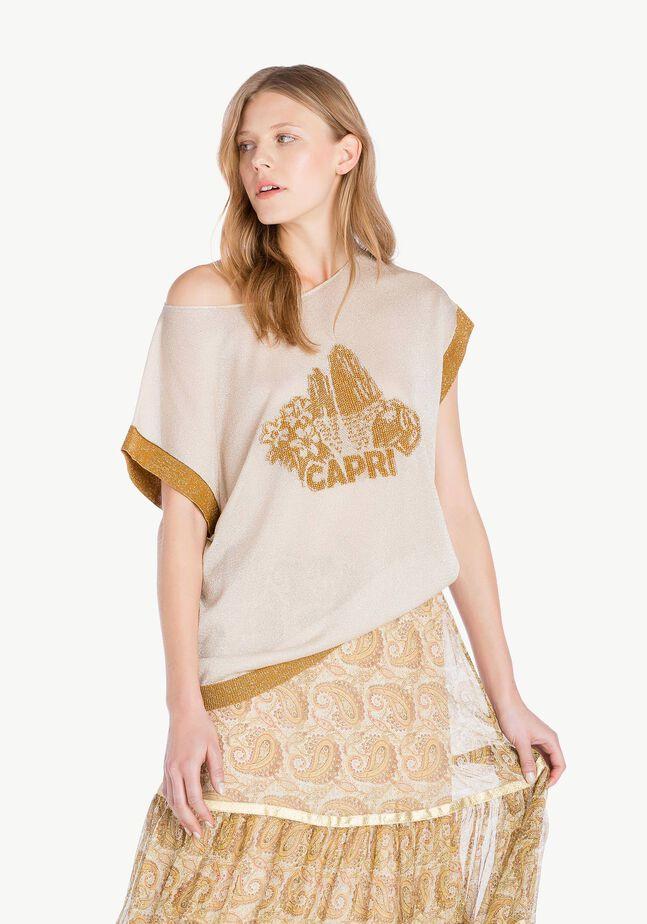 Lurex knit top