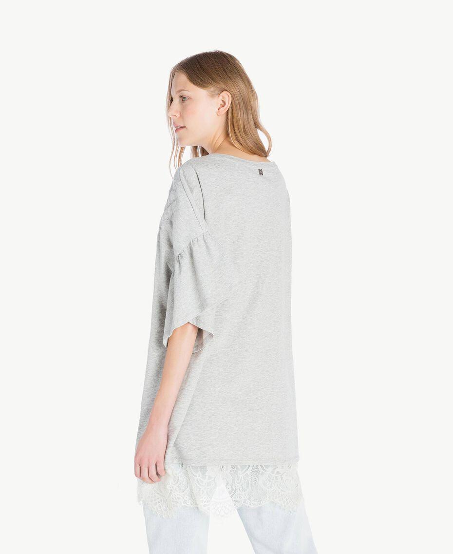 Sweatshirt aus Spitze Hellgrau-Mélange Frau YS82KA-03