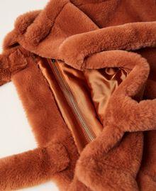 """Plush shopper with logo """"Tan Powder"""" Brown Woman 212TB7350-05"""