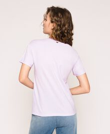 T-shirt avec logo brodé Violet «Ballerine» Femme 201TP2081-02