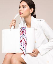 Sac cabas en similicuir avec foulard Lys Femme 201MA7080-0S