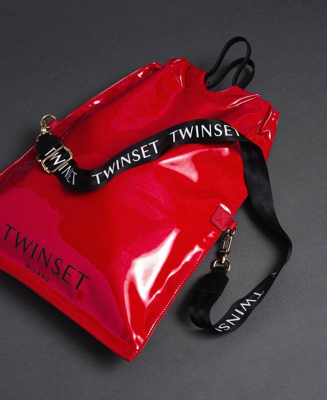 Большая складная сумка-шоппер из искусственной кожи Красный Гранат женщина 192TA7173-01