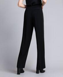 Envers satin palazzo trousers Black Woman QA8TGP-05