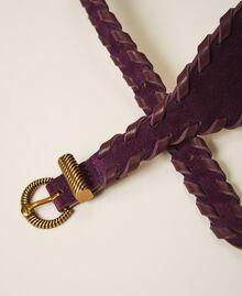 Gürtel aus Rauleder Dark Shiny Purple Frau 202TO5017-03