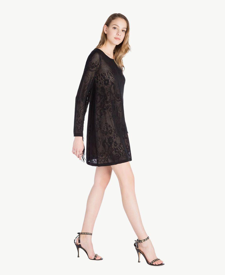 Tunique jacquard Noir Femme TS835A-02