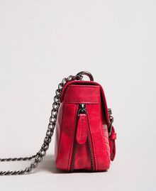 "Rebel leather shoulder bag ""Ruby"" Red Woman 191TA7237-03"