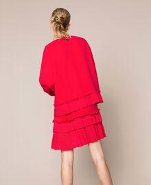 Blouse en crêpe georgette plissé Griotte Femme 201TP2023-03