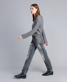 Vintage-inspired jeans Grey Denim Woman JA82YB-02