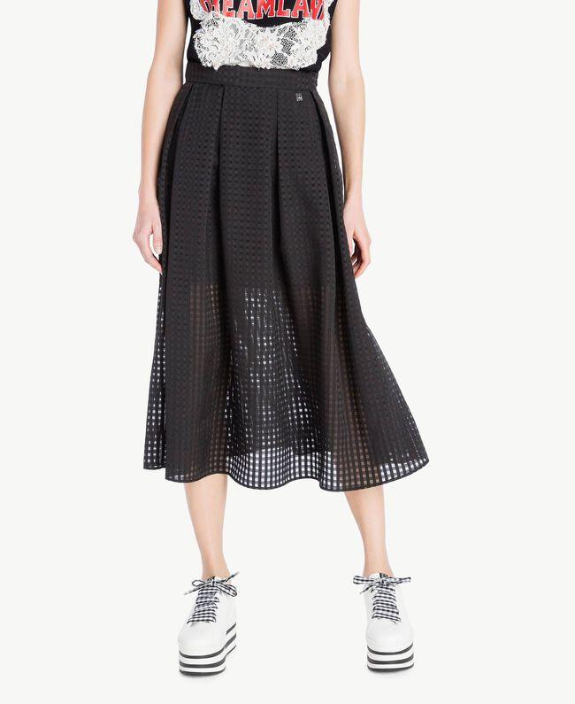 Jupe jacquard Noir Femme YS82GQ-01