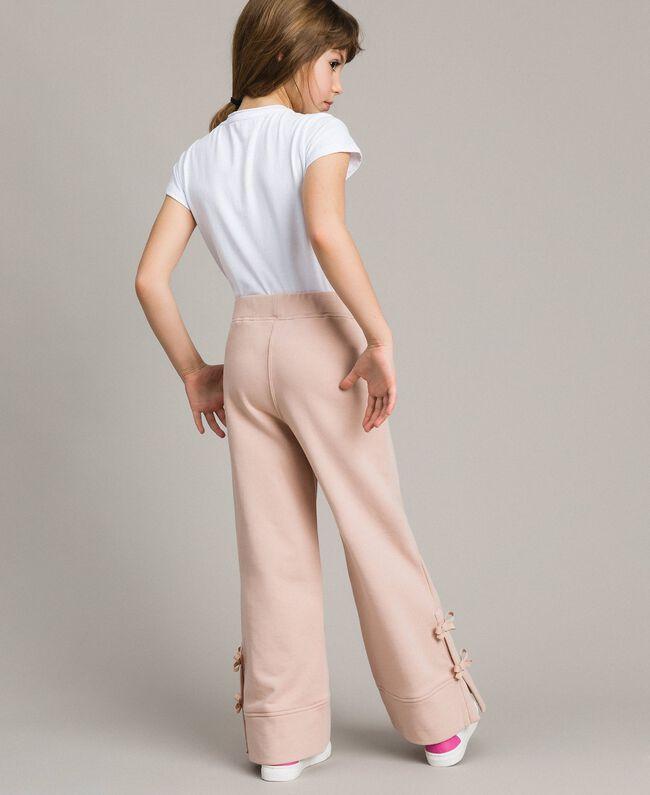 Pantalon palazzo avec nœuds Rose En fleur Enfant 191GJ2033-03