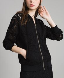 Macramé lace bomber Black Woman 191TP2250-05