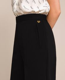 Wide georgette trousers Black Woman 201TP202C-05