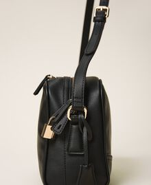 Shoulder bag with dual compartment Black Woman 202TB7032-02