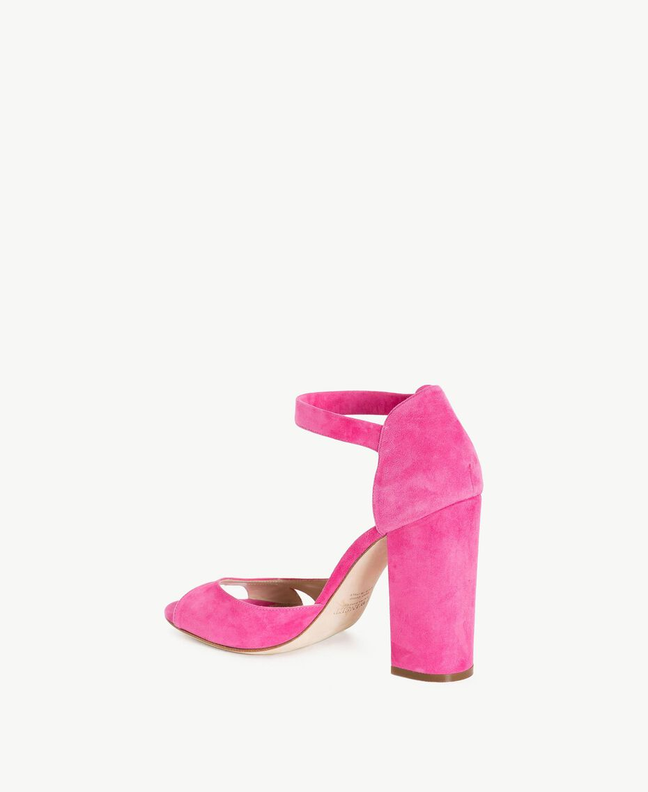 TWINSET Suede sandals Provocateur Pink Woman CS8TDU-03