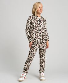 Animal print trousers with hearts Leopard Print Child 192GJ2330-02