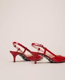 Лаковые лодочки-слингбэки Красный Венецианский женщина 201MCP01C-02